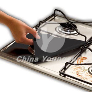 gas stove burner liners color black