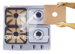 electric stove burner liners color brown